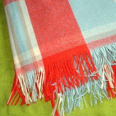 vintage wool blanket - colors to die for!