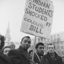 A 1960s demonstration against legislation to limit immigration to Britain.