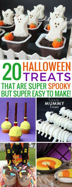 Loving these easy Halloween treats - they are going to go down a storm at our party! Thanks for sharing! Loving these easy Halloween treats - they are going to go down a storm at our party! Thanks for sharing! Casa Halloween, Halloween Movie Night, Halloween Treats For Kids, Spooky Treats, Halloween Baking, Toddler Halloween, Halloween Desserts, Halloween Cakes, Halloween Birthday