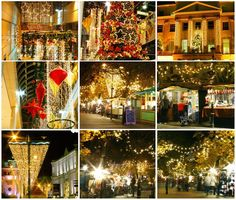 Cheltenham at Christmas. Including scenes of the Christmas Market with it's delightful wooden chalets