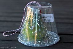 Homemade Christmas Crafts For Kids To Make snow globe  ***make a bunch and hang on a garland or make it into one #Christmas #thanksgiving #Holiday #quote