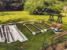 Pre assembly of Origin Aluminium Bi-folds, ready for installation! #bifold #aluminium #mahogany #bespoke #originbifold