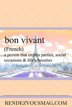 Unusual words with beautiful meanings. Bon Vivant - Statement  tees, tech gifts and home decor available to celebrate these fun and meaningful words. #words #French