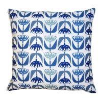 Kuddfodral Tulip blå