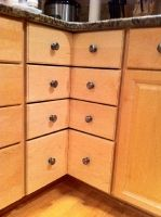 corner cabinet drawers retrofit iu0027ve always hated corner cabinets and the lazy suzan