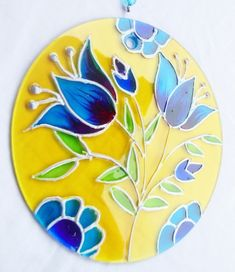 Mandala Flores 15cm Glass Painting Patterns, Glass Painting Designs, Stained Glass Patterns, Fabric Painting, Diy Painting, Mandala Art, Painted Vases, Painted Rocks, Cd Crafts