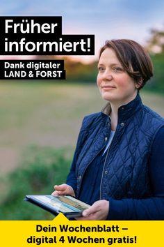 Frühaufsteher werden belohnt: Besser informiert mit LAND & FORST. Gratis testen! Women, Tips And Tricks, Wallpaper Backgrounds