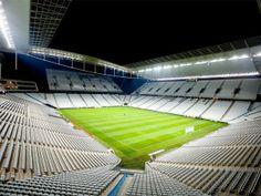 Sport Club Corinthians Paulista - Arena Corinthians, San Pablo, 48.000 personas. Construido previo al Mundial 2014, uno de los estadios mas espectaculares de Brasil