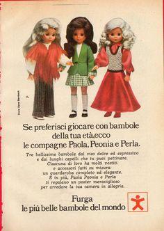 Pubblicità Advertising Werbung 1973 FURGA bambole Paola Peonia e Perla (1)