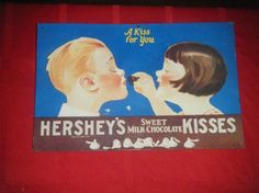 Vintage Hershey's Old Ad Sign