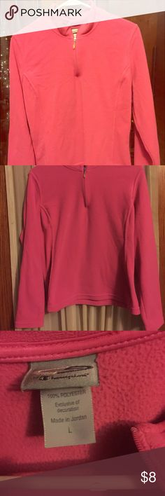 Champion Juniors Zip up fleece Pink fleece zip up size large in junior girls, good condition just out grew Champion Shirts & Tops Sweaters