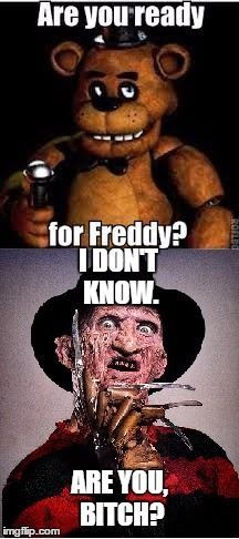 you ready for Freddy? Horror Movie Costumes, Horror Movie Characters, Slasher Movies, Horror Movies, Freddy Krueger, Michael Myers, Jason Voorhees, Fnaf, Akuma No Riddle
