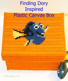 Finding Dory inspired plastic canvas box on The Puzzling Crafter blog