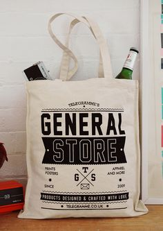 telegramme studio's general store tote bag