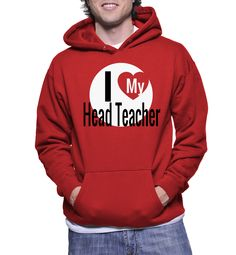 I Love My Head Teacher Hoodie