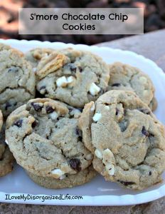 S'more Chocolate Chip Cookies - {i love} my disorganized life