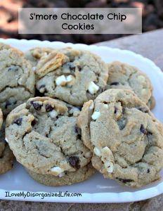 S'more Chocolate Chip Cookies - {i love} my disorganized life