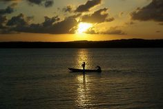 Por do Sol na praia do Jacare/Sunset