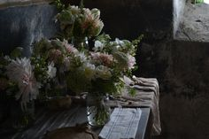 Wedding party flowers from The Garden Gate Flower Company.