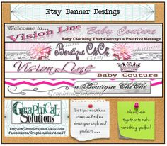 Custom Etsy Shop Design Banner Cover Image by GraphicalSolutions