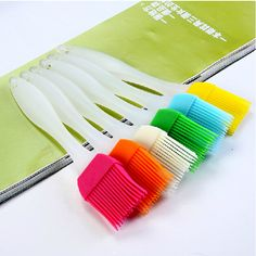 Cheap bbq brush, Buy Quality heat resistant brush directly from China silicone oil brush Suppliers: Heat Resisting Silicone BBQ Oil Brush Baking Bakeware Pastry Cake Bread Cooking Basting Tool Kitchen Gadgets Random Color Barbecue, Bread Oil, Bbq Cake, Grill Brush, Pastry Brushes, Bbq Tools, Baking And Pastry, Pastry Cake, Garden Supplies