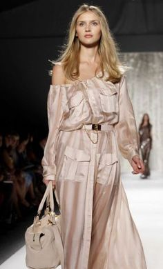 A model wears a design from the Rachel Zoe Spring 2013 collection. Photo: Kathy Willens / AP
