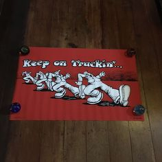 Keep On Trucking Robert Crumb Original Rare 1967  Blacklight  Silkscreened Poster ,Personality Poster Company New York USA by RockPostersTreasures on Etsy