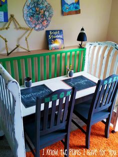 love this change your childs crib into a desk