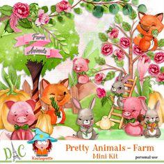 Pretty animals - Farm by kastagnette Pretty Animals, Farm Animals, Animation, Kit, Animation Movies, Motion Design