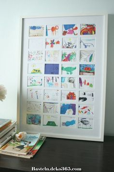 The best way to display kids art - diy kid's art collage. The best way to display kids art - diy kid's art collage. Displaying Kids Artwork, Artwork Display, Display Kids Art, Childrens Art Display, Display Ideas, Display Pictures, Childrens Wall Art, Diy Artwork, Cadre Design