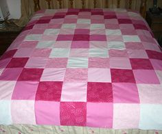 Make An Easy Weekend Patchwork Quilt Topper. http://www.instructables.com/id/Make-An-Easy-Weekend-Patchwork-Quilt-Topper/?ALLSTEPS