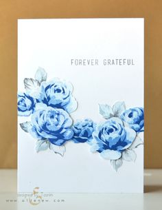 Clean and simple thank you card using the Vintage Roses stamp set