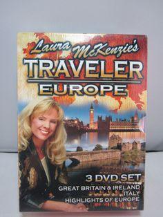 Laura McKenzie's Traveler: Europe 3-DVD Great Britain Ireland Italy Europe New