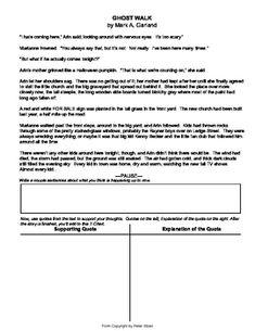 Foreshadowing Worksheet Teaching Resources | Teachers Pay Teachers
