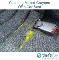 This guide is about cleaning melted crayons off a car seat. Melted crayon wax in the car can be a challenge to remove. Cleaning Leather Car Seats, Clean Car Seats, Car Cleaning, Diy Cleaning Products, Car Products, Cleaning Solutions, Cleaning Hacks, Car Fix, Driving Tips
