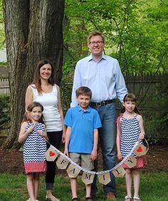 Make your own 'Family' Burlap Banner