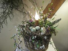 Lighted Spring Basket | Gatherings at Muncy Creek Barn Works