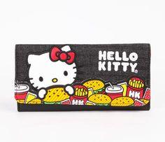 Hello Kitty Long Wallet: Hamburger. HK and hamburgers...yes!