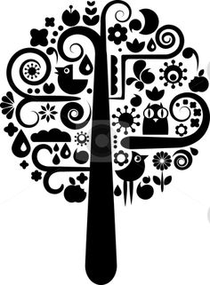 Black And White Tree Clip Art