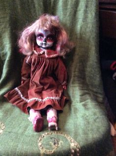 Vintage Porcelain Day of the Dead Doll by grandmaswitchesbroom on Etsy