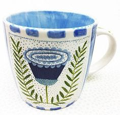 Pottery * 12 oz. Mug *Botanica Series * Passion Flower