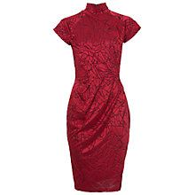 French Connection Shatter Jacquard Cap Sleeve Dress, Runway Red
