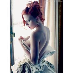 Scarlett Johansson By Mario Sorrentti For Vanity Fair   December 2011... ❤ liked on Polyvore featuring scarlett johansson, models and people