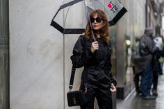 Not Even A Blizzard Could Stop New York Fashion Week Street Style #refinery29