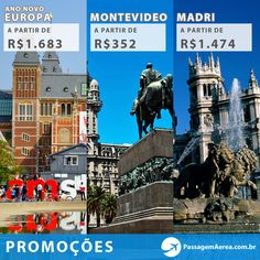Promoções da Semana no Passagem Aérea.  #passagemaerea #montevideo #madri #europa  http://www.passagemaerea.com.br/