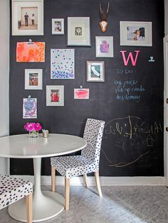 Eclectic Kitchen Design, Pictures, Remodel, Decor and Ideas - page 4 Frames over chalkboard paint.