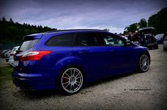 Ford Focus ST mk3 - Blue color, big rims