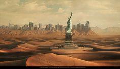 Umění rozpadu: Jak by vypadala Země po pádu civilizace? Post Apocalyptic City, Apocalypse Now, World In Motion, Sci Fi Fantasy, End Of The World, Sci Fi Art, Concept Art, Scenery, Survival