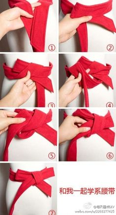 大衣蝴蝶结!How to tie a bow on a coat.