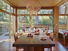 maison dans le style nature: bois massif